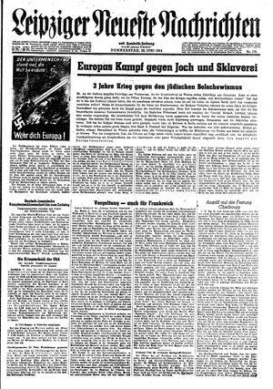 Leipziger neueste Nachrichten und Handelszeitung  vom 22.06.1944