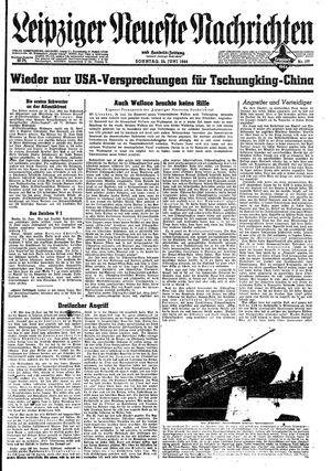 Leipziger neueste Nachrichten und Handelszeitung  vom 25.06.1944
