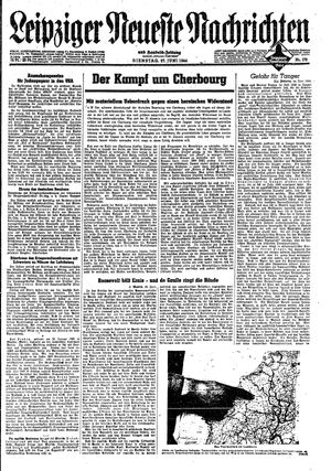 Leipziger neueste Nachrichten und Handelszeitung  vom 27.06.1944