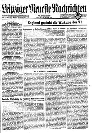 Leipziger neueste Nachrichten und Handelszeitung  vom 28.06.1944