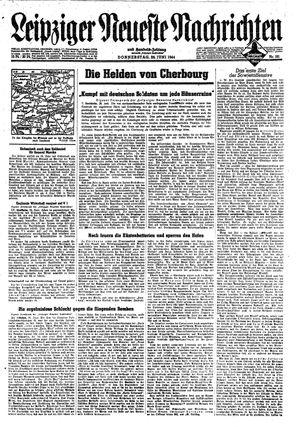 Leipziger neueste Nachrichten und Handelszeitung  vom 29.06.1944