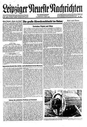 Leipziger neueste Nachrichten und Handelszeitung  vom 04.07.1944