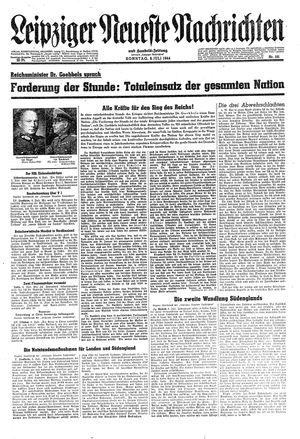Leipziger neueste Nachrichten und Handelszeitung  on Jul 9, 1944
