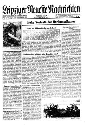 Leipziger neueste Nachrichten und Handelszeitung  vom 18.07.1944