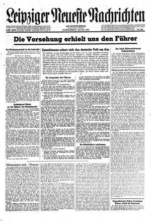 Leipziger neueste Nachrichten und Handelszeitung  vom 22.07.1944