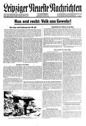 Leipziger neueste Nachrichten und Handelszeitung  on Jul 24, 1944