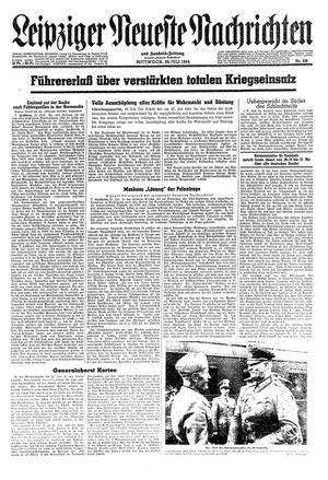 Leipziger neueste Nachrichten und Handelszeitung  vom 26.07.1944