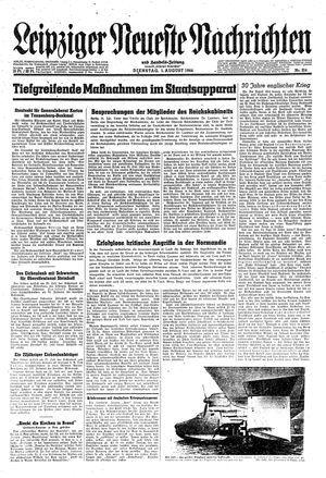 Leipziger neueste Nachrichten und Handelszeitung  vom 01.08.1944