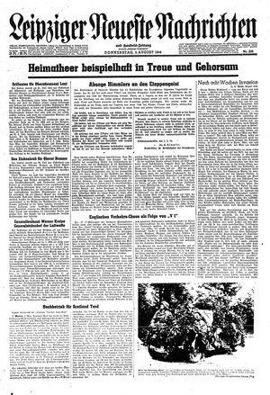Leipziger neueste Nachrichten und Handelszeitung  vom 03.08.1944