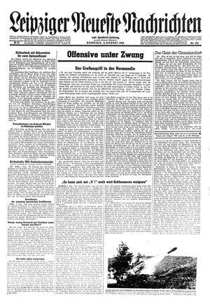 Leipziger neueste Nachrichten und Handelszeitung  on Aug 6, 1944