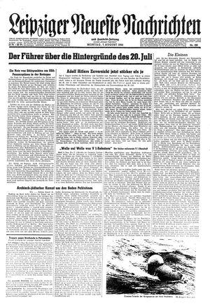 Leipziger neueste Nachrichten und Handelszeitung  vom 07.08.1944