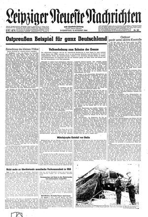 Leipziger neueste Nachrichten und Handelszeitung  vom 08.08.1944