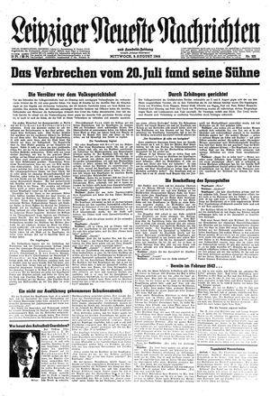 Leipziger neueste Nachrichten und Handelszeitung  vom 09.08.1944