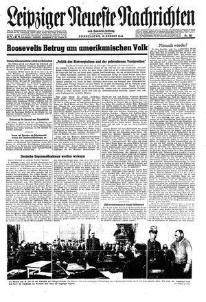 Leipziger neueste Nachrichten und Handelszeitung  vom 10.08.1944