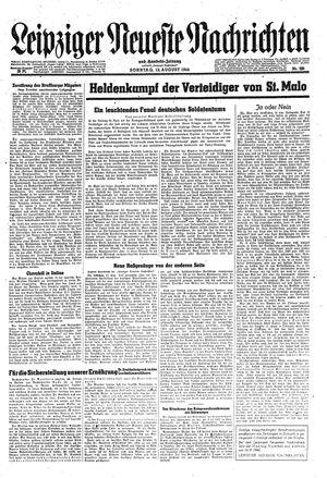 Leipziger neueste Nachrichten und Handelszeitung  vom 13.08.1944