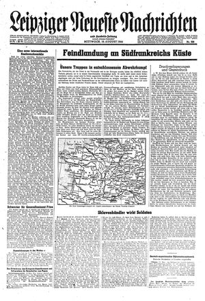 Leipziger neueste Nachrichten und Handelszeitung  vom 16.08.1944
