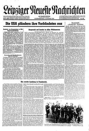 Leipziger neueste Nachrichten und Handelszeitung  on Aug 17, 1944