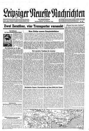 Leipziger neueste Nachrichten und Handelszeitung  vom 19.08.1944
