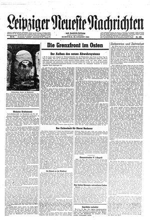 Leipziger neueste Nachrichten und Handelszeitung  vom 20.08.1944