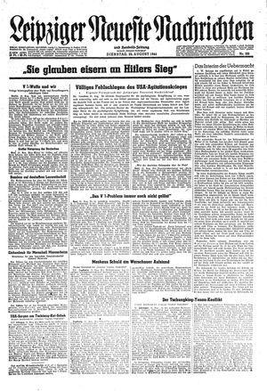 Leipziger neueste Nachrichten und Handelszeitung  vom 22.08.1944
