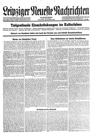 Leipziger neueste Nachrichten und Handelszeitung  vom 25.08.1944