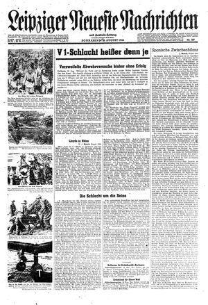 Leipziger neueste Nachrichten und Handelszeitung  vom 26.08.1944