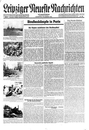 Leipziger neueste Nachrichten und Handelszeitung  on Aug 27, 1944
