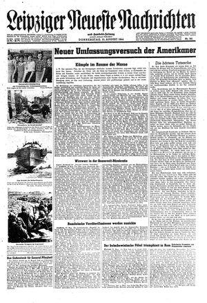 Leipziger neueste Nachrichten und Handelszeitung  vom 31.08.1944