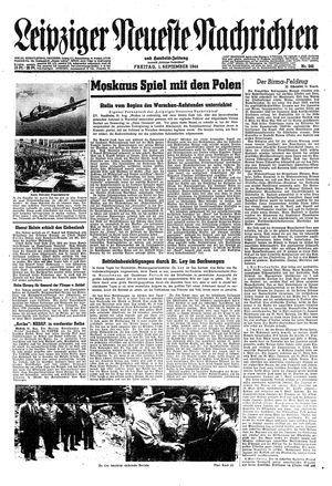 Leipziger neueste Nachrichten und Handelszeitung  vom 01.09.1944