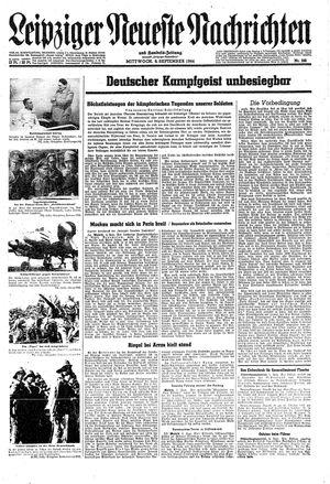 Leipziger neueste Nachrichten und Handelszeitung  vom 06.09.1944