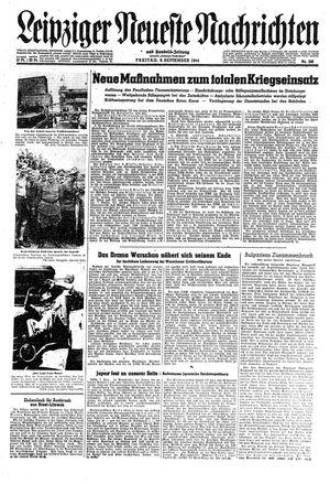 Leipziger neueste Nachrichten und Handelszeitung  vom 08.09.1944