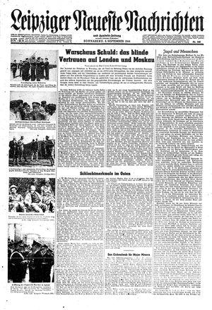 Leipziger neueste Nachrichten und Handelszeitung  vom 09.09.1944