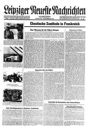 Leipziger neueste Nachrichten und Handelszeitung  vom 10.09.1944
