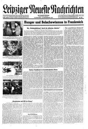Leipziger neueste Nachrichten und Handelszeitung  on Sep 12, 1944
