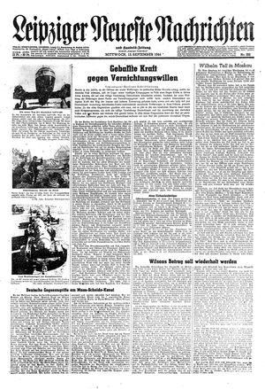 Leipziger neueste Nachrichten und Handelszeitung  vom 13.09.1944