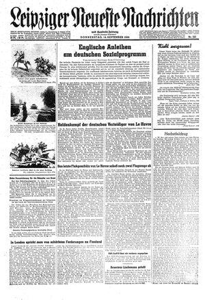 Leipziger neueste Nachrichten und Handelszeitung  vom 14.09.1944