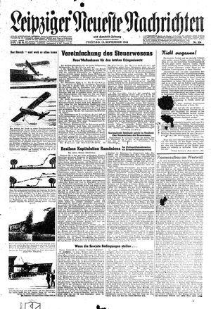 Leipziger neueste Nachrichten und Handelszeitung  vom 15.09.1944