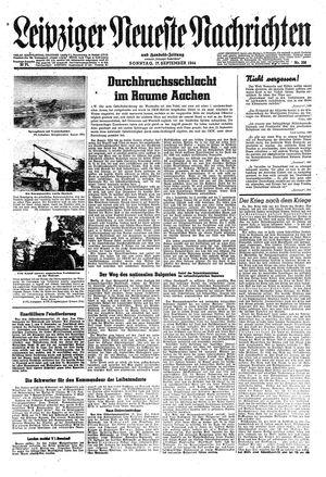 Leipziger neueste Nachrichten und Handelszeitung  vom 17.09.1944