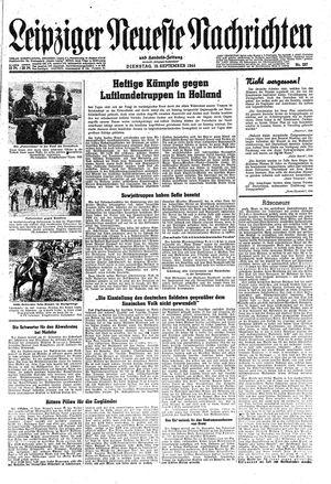 Leipziger neueste Nachrichten und Handelszeitung  vom 19.09.1944