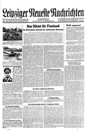 Leipziger neueste Nachrichten und Handelszeitung  on Sep 21, 1944
