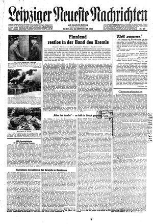 Leipziger neueste Nachrichten und Handelszeitung  on Sep 22, 1944
