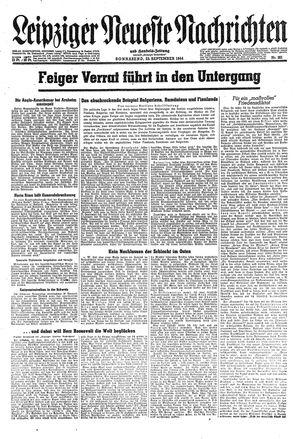 Leipziger neueste Nachrichten und Handelszeitung  vom 23.09.1944