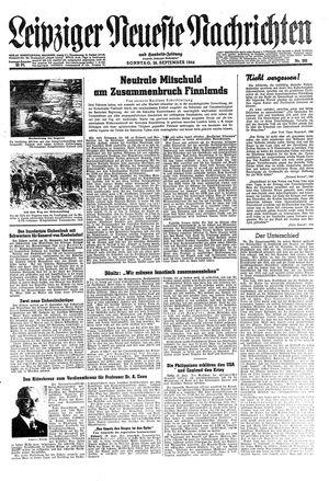 Leipziger neueste Nachrichten und Handelszeitung  on Sep 24, 1944