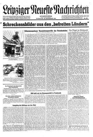 Leipziger neueste Nachrichten und Handelszeitung  on Sep 26, 1944