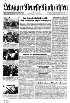 Leipziger neueste Nachrichten und Handelszeitung  vom 27.09.1944