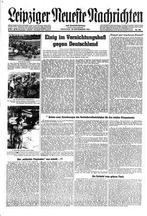 Leipziger neueste Nachrichten und Handelszeitung  on Sep 29, 1944