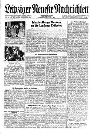 Leipziger neueste Nachrichten und Handelszeitung  vom 03.10.1944