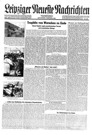 Leipziger neueste Nachrichten und Handelszeitung  vom 04.10.1944