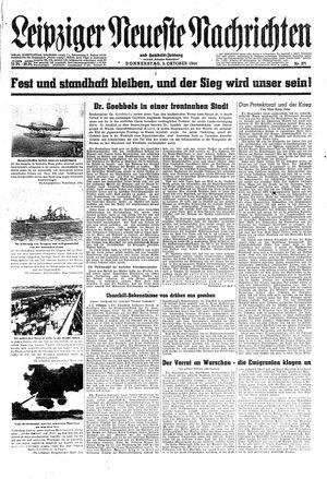 Leipziger neueste Nachrichten und Handelszeitung  on Oct 5, 1944