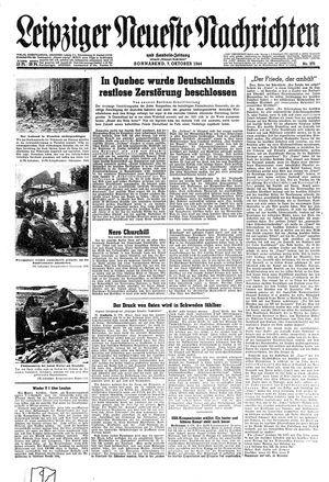 Leipziger neueste Nachrichten und Handelszeitung  vom 07.10.1944